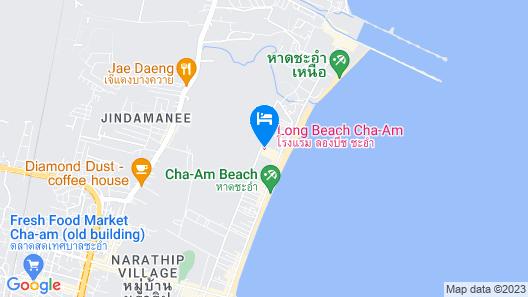 Long Beach Cha-Am Hotel Map