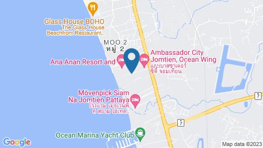 Ambassador City Jomtien Pattaya (Ocean Wing) Map