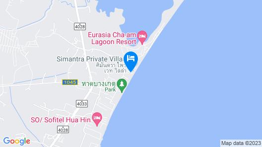 Cha Am Beach Front Pool Villa Map