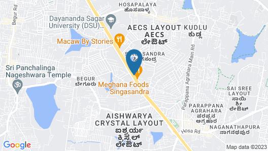 Keys Select Hosur Road - By Lemon Tree Hotels Map