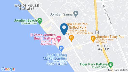 The Riviera Jomtien by Pattaya Holiday Map