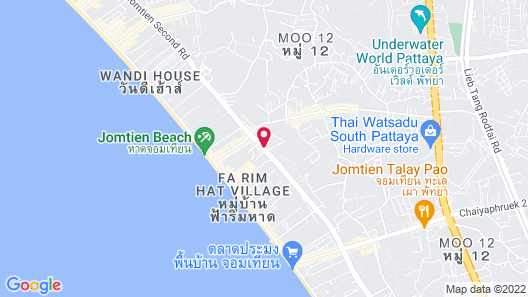 Atlantis Condo Resort by Natnarin Map