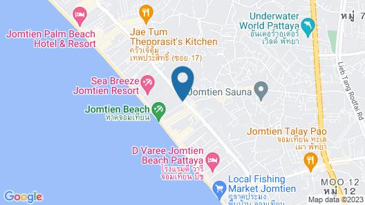 2 bed sea View - Jomtien Beach Map