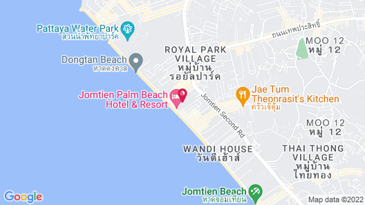 Jomtien Palm Beach Hotel And Resort Map