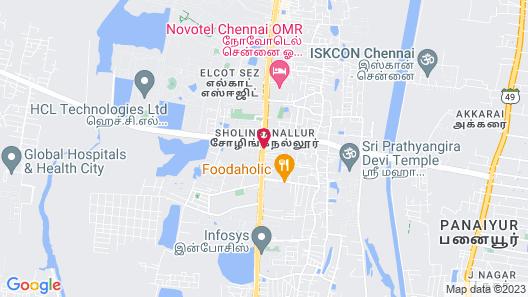 Aloft Chennai, OMR - IT Expressway Map