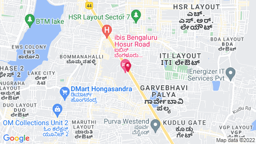ibis Bengaluru Hosur Road Hotel Map