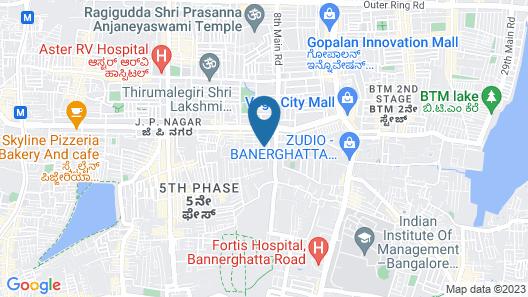 Catalyst Suites-JP Nagar Map