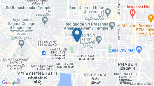 Octave Hotel & Spa JP Nagar Map
