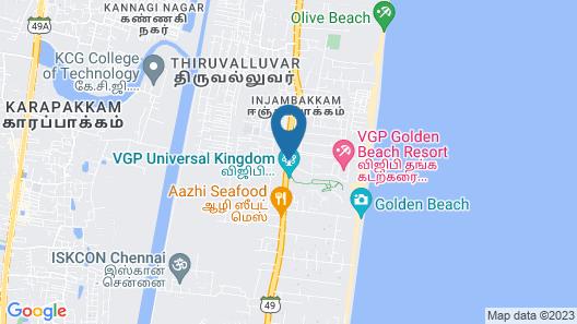 VGP Golden Beach Resort Map