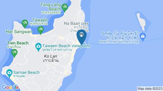 Baan Rimnam Koh Larn Map