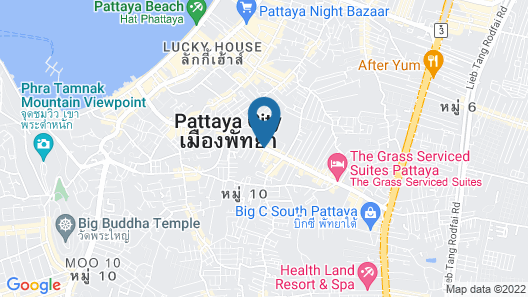 Pattaya City Resort Map