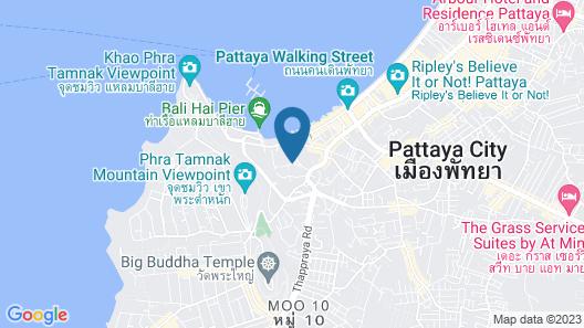 Siam Bayshore Resort Pattaya Map