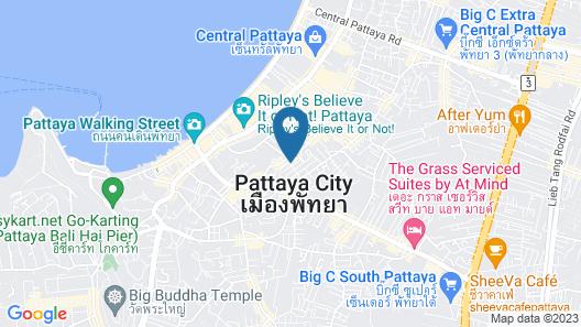 Golden Sea Pattaya Hotel Map
