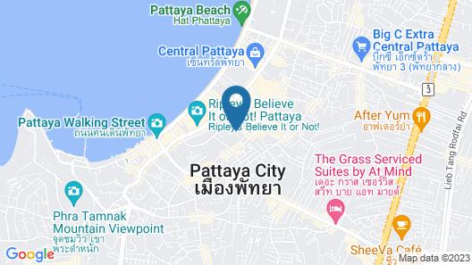 Centara Grand Avenue by Pattaya Holiday Map