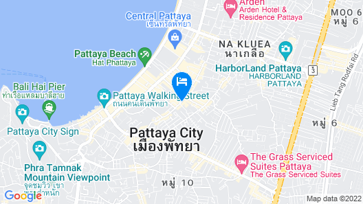 BR Guest House Pattaya Map