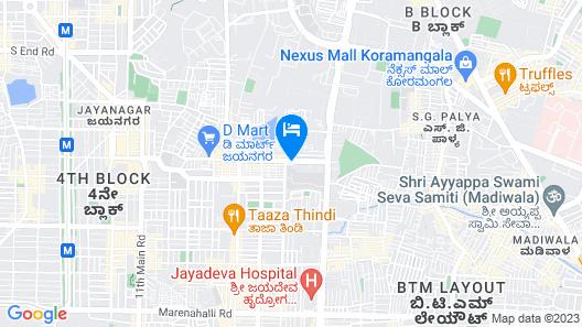 OYO 10521 GCK Suites Map