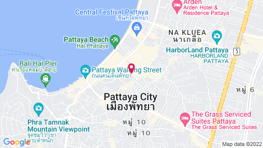 Centara Azure Hotel Pattaya Map