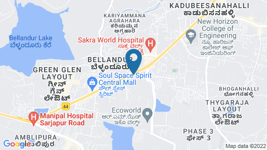 Courtyard by Marriott Bengaluru Outer Ring Road Map