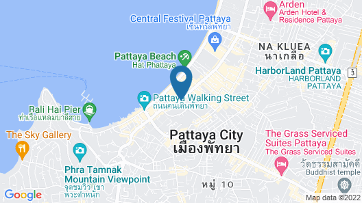 Avani Pattaya Resort Map