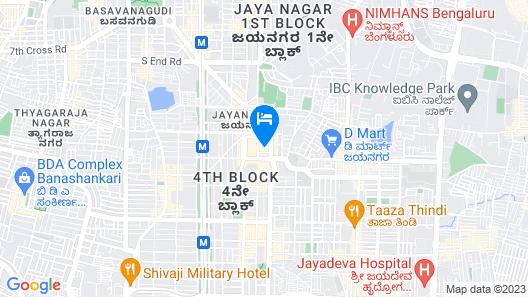 Hotel Monarch International Jayanagar Map