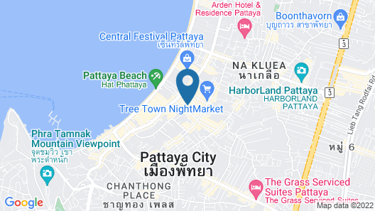 The Base Central Pattaya  Sea View Map