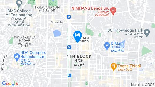 Hotel Nandhini Jayanagar Map