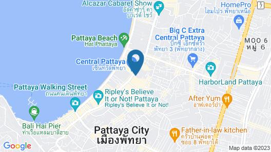 Golden Beach Hotel Pattaya Map