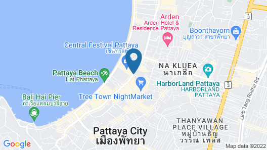 The Imperial Pattaya Hotel Map