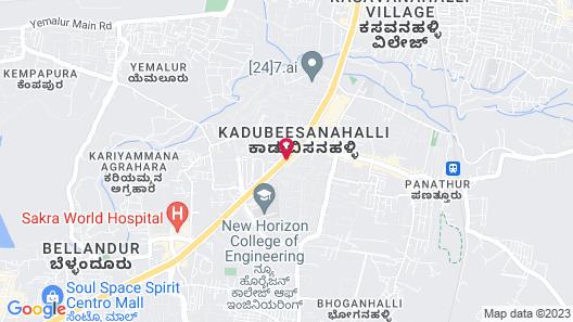 Aloft Bengaluru Cessna Business Park Map