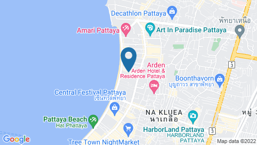 The Pattaya Discovery Beach Hotel Pattaya Map