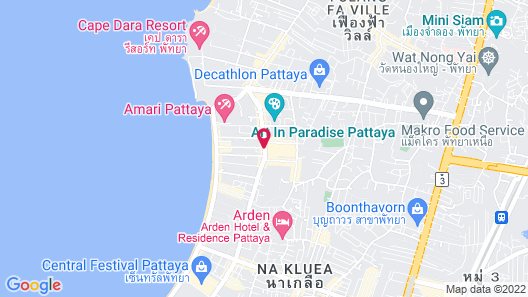 Siam@Siam Design Hotel Pattaya Map