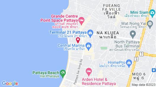 Mercure Pattaya Ocean Resort Map