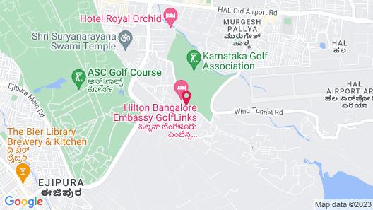Hilton Bangalore Embassy GolfLinks Map