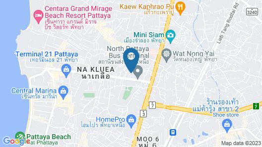 YK Condotel Pattaya Map