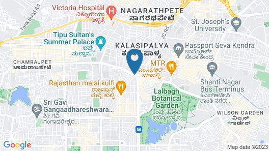 Hotel Nandhini - Minerva Circle Map