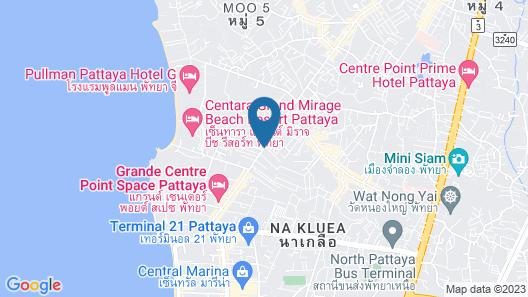 Brighton Grand Hotel Pattaya Map