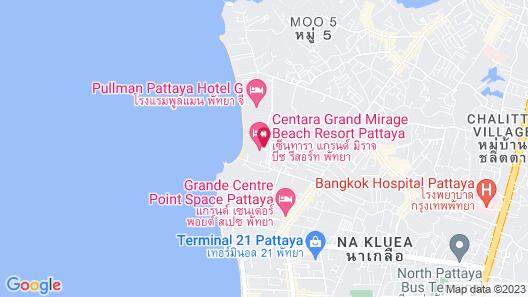 Centara Grand Mirage Beach Resort Pattaya Map