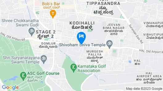 The Leela Palace Bangalore Map