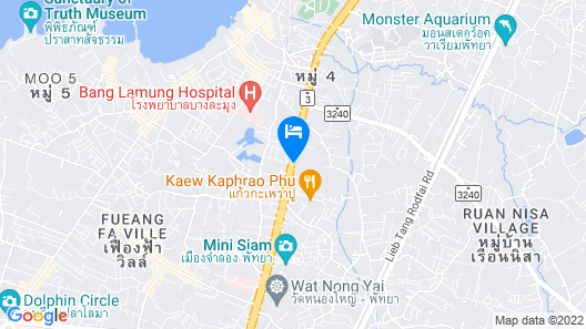 Centre Point Prime Hotel Pattaya Map