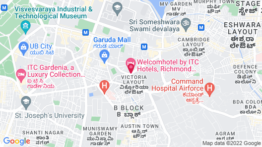 WelcomHotel Bengaluru - Member ITCHotel Group Map