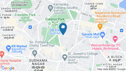 ITC Gardenia, a Luxury Collection Hotel, Bengaluru Map