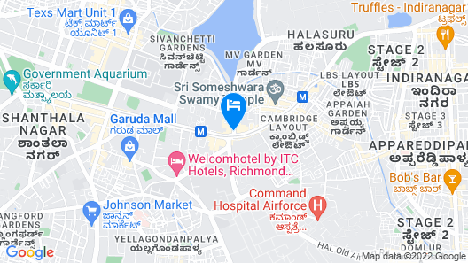 Taj MG Road, Bengaluru Map