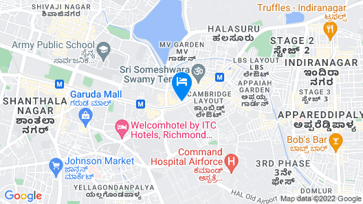 Hyatt Centric MG Road Bangalore Map