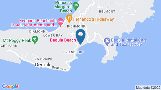 Bequia Beach Hotel Luxury Resort & Spa Map