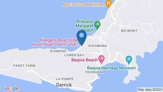 Keegan's Beachside Map