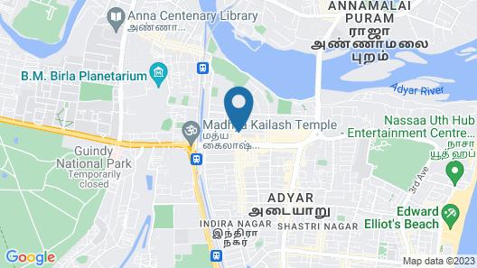 SKR Guest house Map