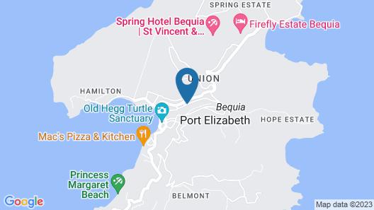 Bequia Plantation Hotel Map