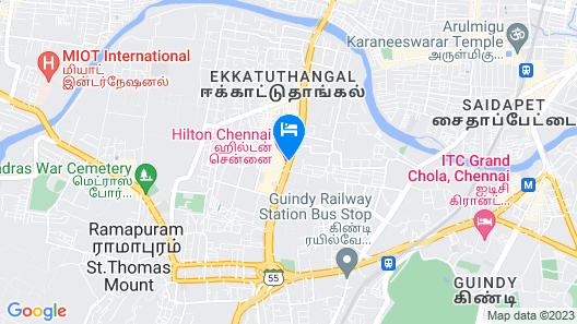 Hilton Chennai Map
