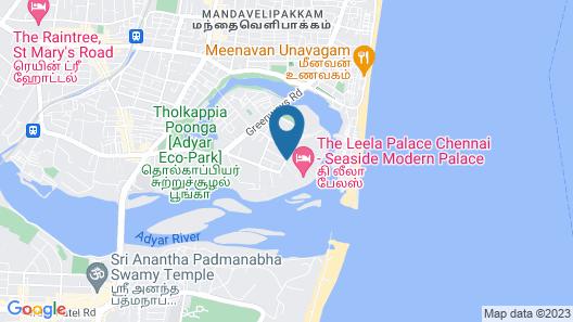 The Leela Palace Chennai Map