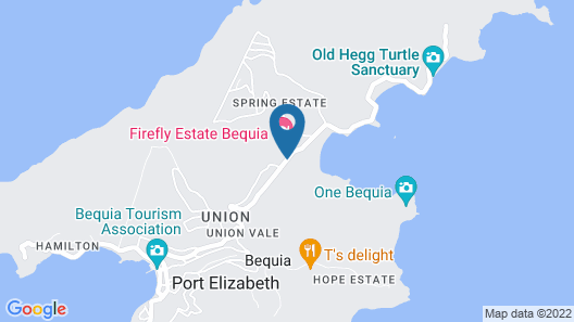 Firefly Plantation Bequia Map